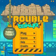 Rubble Trouble Tokyo menu