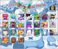 The Christmas 2013 calendar with opened avatars