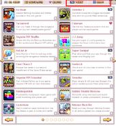 Games Tab 2.0 update