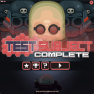 Test Subject Complete menu