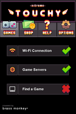 Nitrome Touchy connection screen