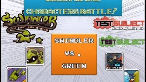 Battle of the Week - Green slime characters battle