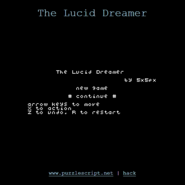 The Lucid Dreamer menu