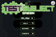 NT Test Subject Green Menu