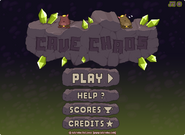 Cave Chaos menu