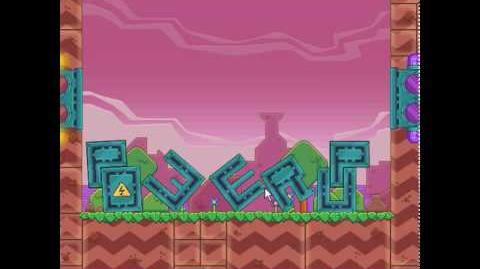 Nitrome - Power Up - Title screen's level