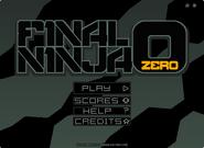 Final Ninja Zero menu