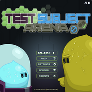 Test Subject Arena menu