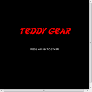 Teddy Gear menu with scrolly box