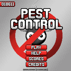 Pest Control menu whit the settings cog