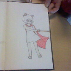 Concept art for Delilah; in this picture she is using one of her attacks, Shattered Reality.