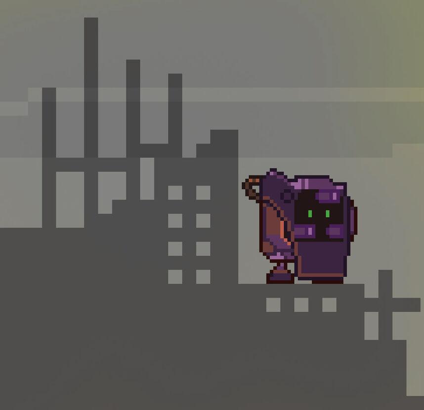 Apocalyptic Rusty Robot