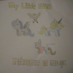 Members of J.U.S.T.I.N as My Little Ponies