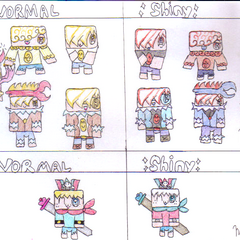 Chart Showing the Difference Between Regular and Shiny Carter