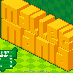 Mallet Mania menu whit the settings cog