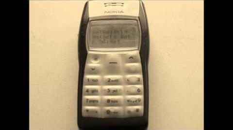 Snow Drift music on an old Nokia cell phone