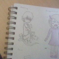 Concept art for Packer (left).