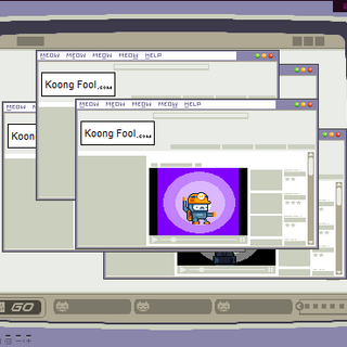 Many windows of the Koong Fool website in the ending