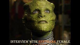 Интервью с рептилийской женщиной Lacerta (на английском аудио и субтитры)