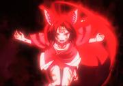 Izuna Using Blood Destruction