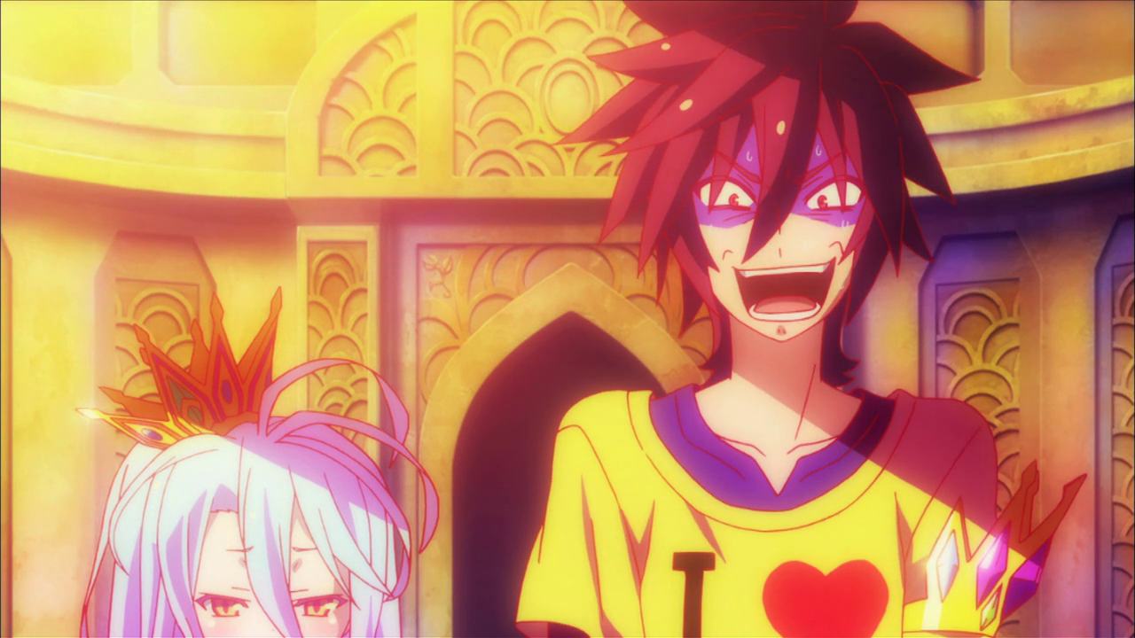 image scared sora with unhappy shiro png no game no life wiki