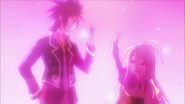 Sora and Shiro hi five