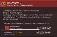 Thamium-9 – Beschreibung