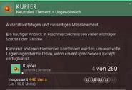 Kupfer – Beschreibung