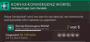 Korvax-Konvergenz-Würfel – Beschreibung