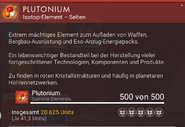 Plutonium – Beschreibung