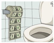 Dollar toilet large