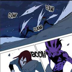 Urokai meets Frankenstein's attacks.