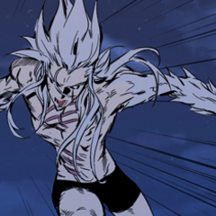 Muzaka uses his claws.
