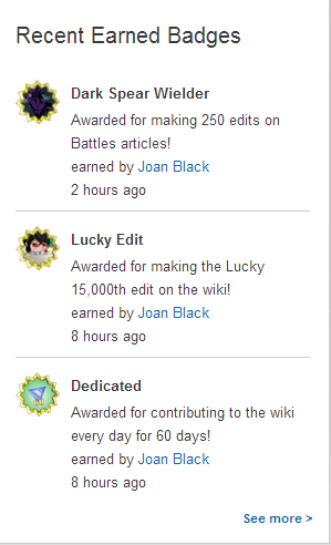 3 badges in one day (April 26, 2014)