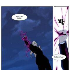 Frankenstein summons his Dark Spear.
