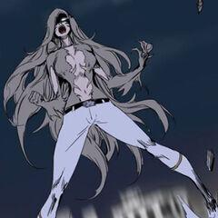 The 5th Elder transforms into her werewolf form.