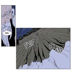 Frankenstein manipulates the 9th Elder.
