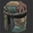 Woven Silk Patchwork Headdress