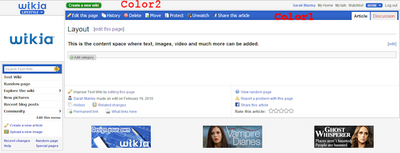 Example page layout-colors