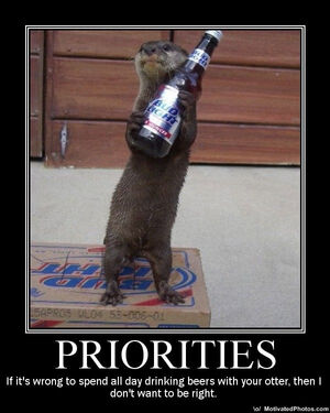 Otter-with-beer