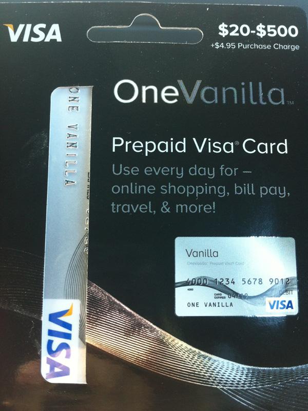 vgc one vanilla - Cvs Visa Gift Card
