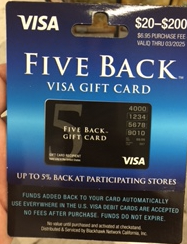 Five Back Visa Gift Cards | NOLA/BR Churn Wikia | FANDOM powered ...
