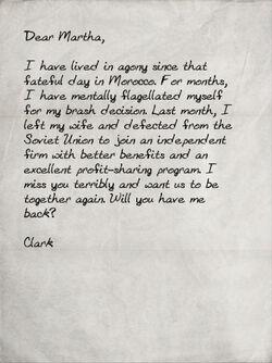 Clark's letter