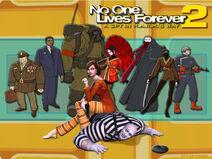 NOLF2 CharactersWallpaper