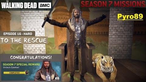 The walking dead no man's land (S07 Episode 16 To the rescue) + Ezekiel unlocked!