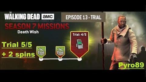 The walking dead no man's land (S07 Episode 13 - Death Wish) Trial 5 5 + 2 spins