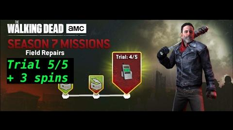 The walking dead no man's land (S07 Episode 8 - Field Repairs - trial 5 5) + 3 spins