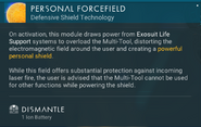 Personal Forcefield dismantle