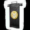 壁面用の旗(黒)