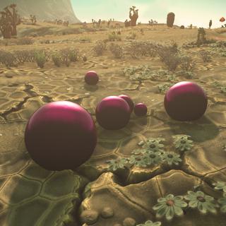 Balles de gravitation dans la nature, éteintes.